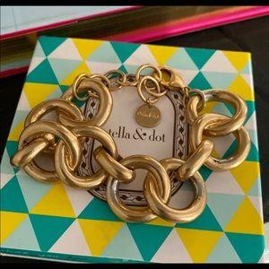 Stella & Dot gold link chain bracelet